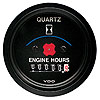 <p>Cockpit Vision Hourmeter Hours 52mm 12 volt  Through Dial black black bezel</p>