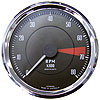 GT40 Tachometer Electric 0-8000 rpm 100mm 12 volt Chrome