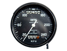 Chronometric Speedometer with internal angle drive