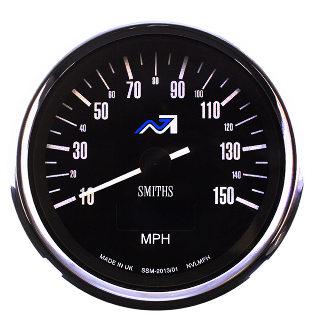 Smiths Motorcycle Speedometer Electric Full Sweep 0-240 kmh    80mm 12 volt black dial  chrome bezel